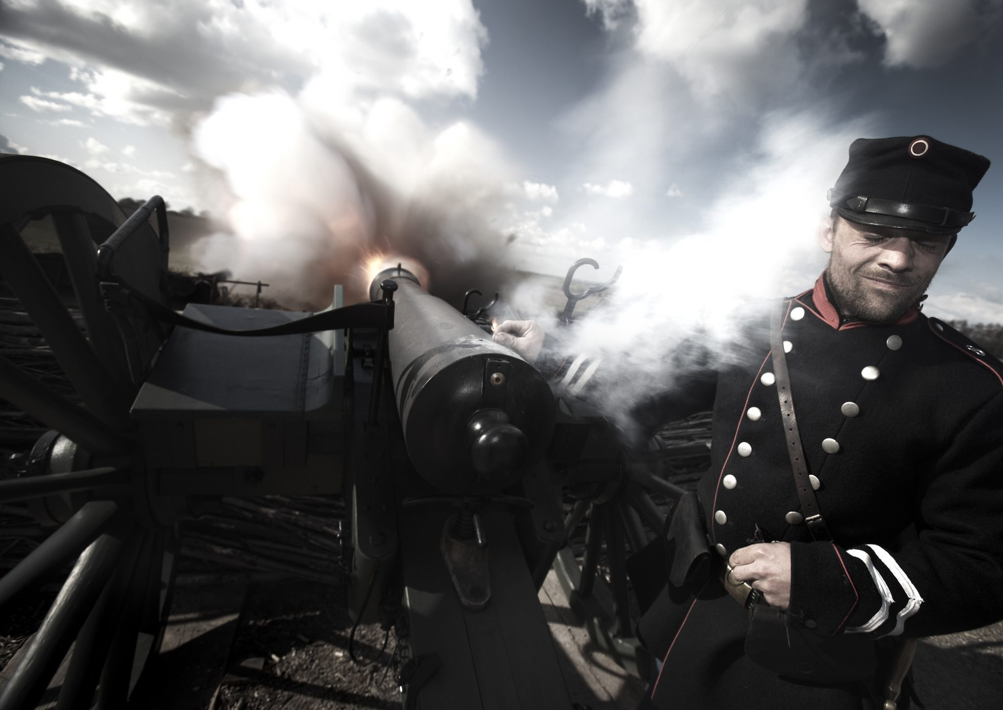 Kanoner på Historiecenter Dybbøl Banke