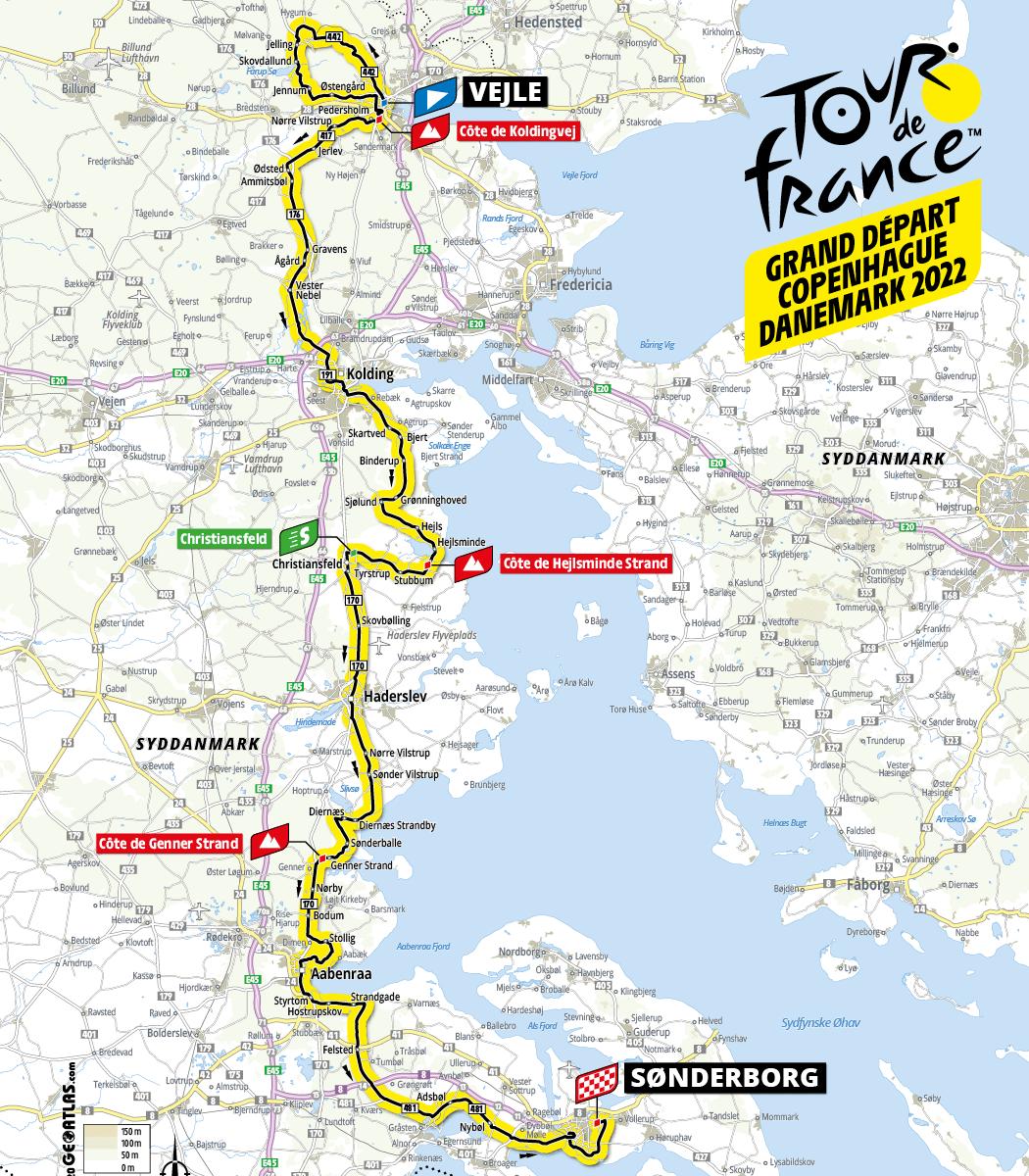Tour de France 2022 rute