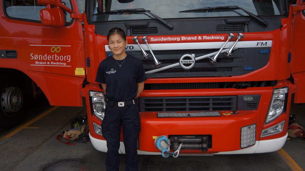 Marie er ny brandmand i Sønderborg – og er vild med det