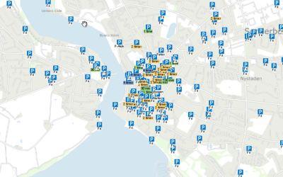 Find parkeringspladser i Sønderborg midtby