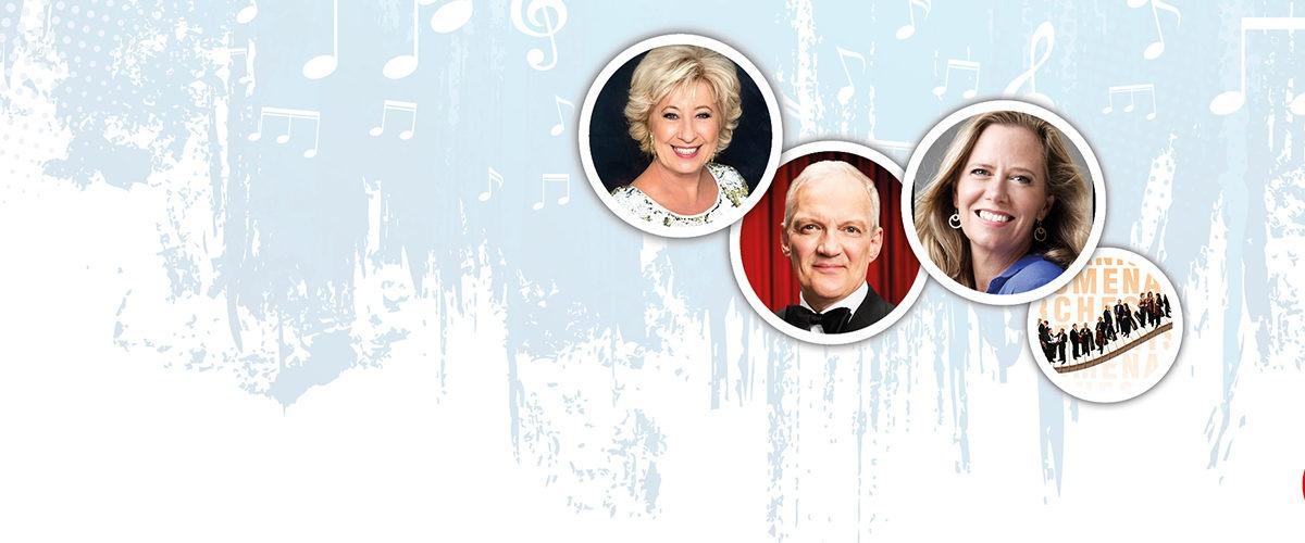 Birthe Kjær, Lisbeth Kjærulff, Preben Kristensen og Promenadeorkesteret